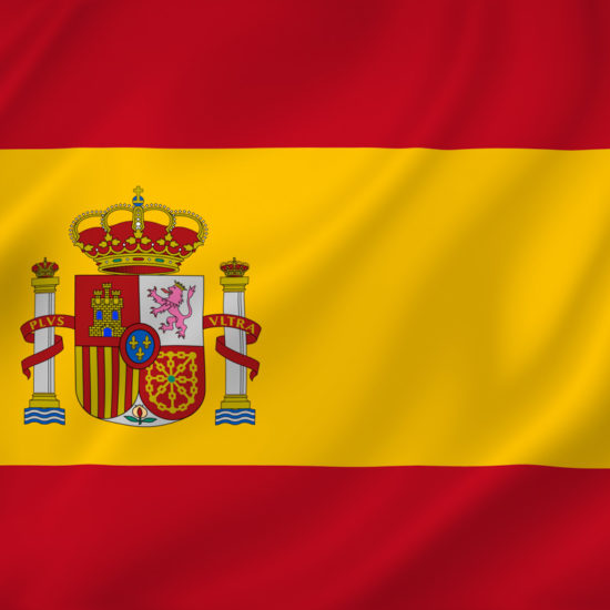 Spain national flag background texture.