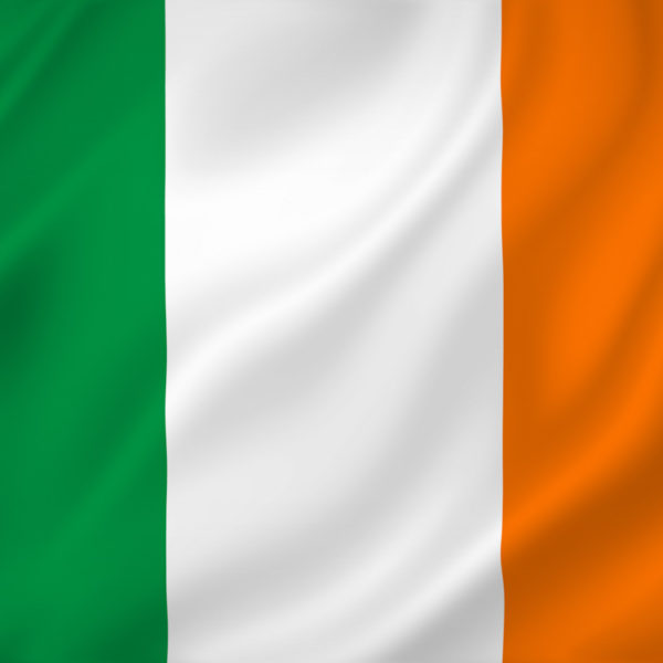 Ireland national flag background texture.