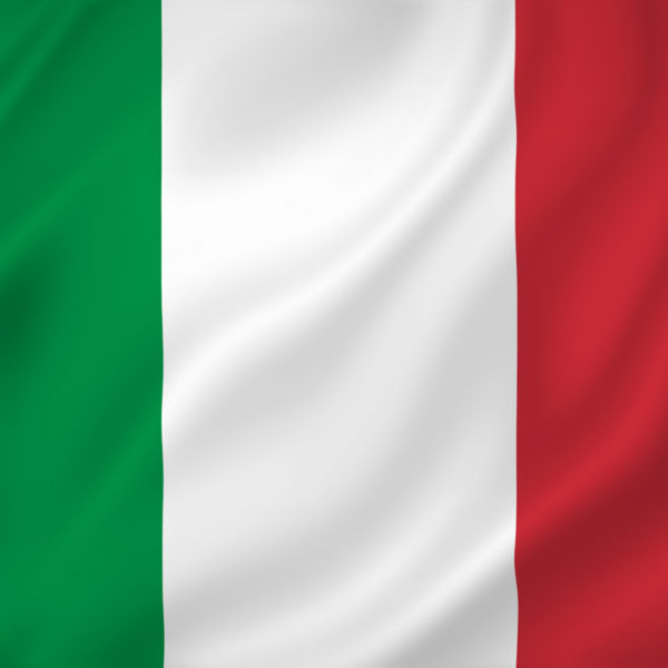 Italy national flag background texture.